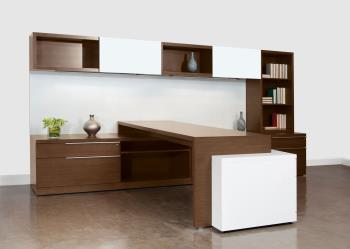HON Park Ave Wood Veneer Desk